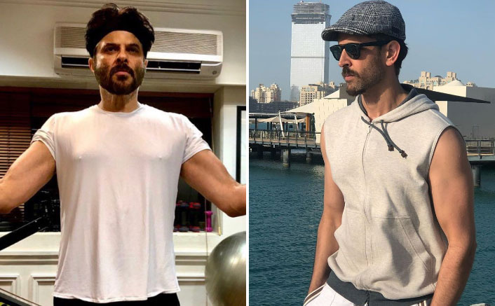 Anil Kapoor gives fitness goals to Hrithik Roshan