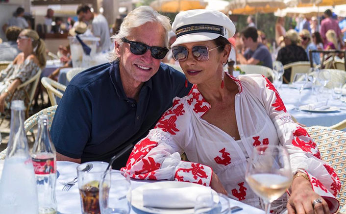 'Ant-Man' Michael Douglas Chills With His 'Wasp' Catherine Zeta-Jones In Mallorca But Their Cute Dog Steals All The Limelight!