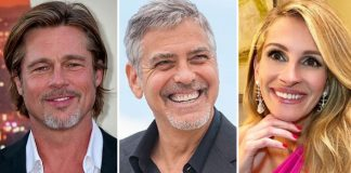 Brad Pitt & BFF George Clooney In A WAR? Courtesy, Julia Roberts!