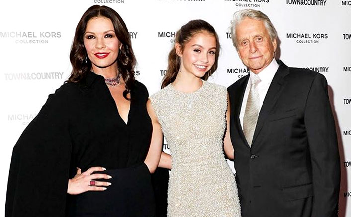 Catherine Zeta-Jones & Michael Douglas' Daughter Carys Zeta-Jones STUNS In A Gorgeous White Slip Dress