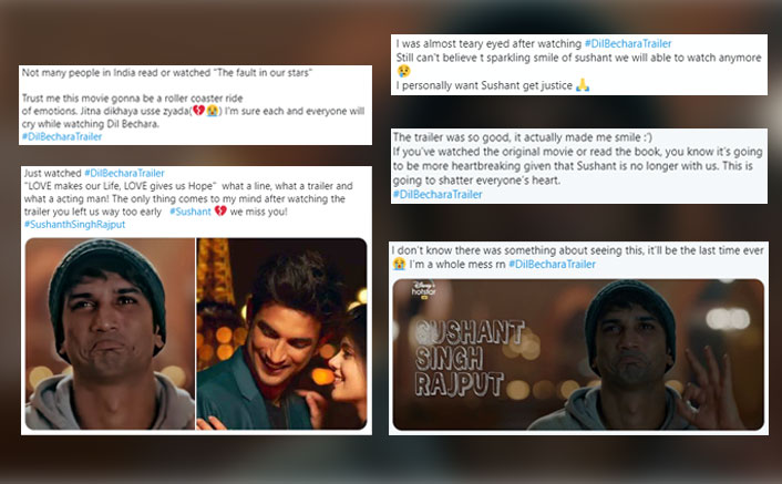 Dil Bechara Trailer Reaction: Sushant Singh Rajput & Sanjana Sanghi Fans Say They're Left Teary-Eyed & Heartbroken