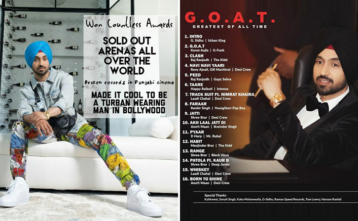 G.O.A.T: Diljit Dosanjh Brings A STORM On The Internet With The Release Of His New Track