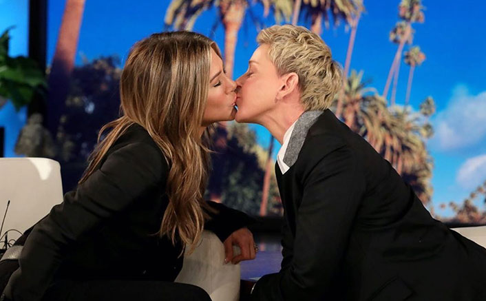 Ellen DeGeneres & Jennifer Aniston Gave Us The ULTIMATE Girlfriend Goals When They Legit Sealed It With A Kiss!