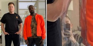 Elon Musk & Kanye West Pose Together For A Stylish Pic, But It's Grimes' Reflection That Twitterati Care About