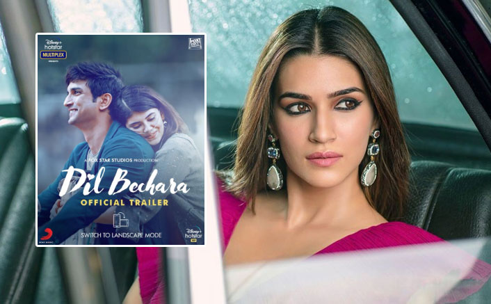 Kriti Sanon Reacts On Sushant Singh Rajput's Dil Bechara Trailer & It's Heartbreaking