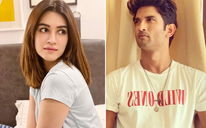 "Kriti Sanon's Emotional Post On Sushant Singh Rajput's Dil Bechara: ""Saw YOU Come Alive In So Many Moments""(Pic credit: Instagram/sushantsinghrajput Instagram/kritisanon)"