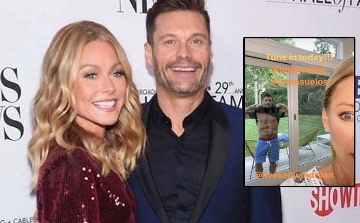 Kelly Ripa Shares A Picture Of Husband Mark Consuelos Flaunting His Abs; Our Reaction Is Literally Same As Hers!
