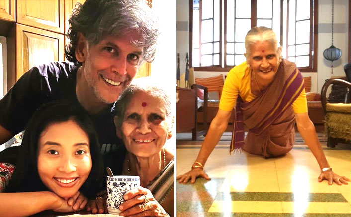 Forget Milind Soman As A Fitness Idol! His Mother Can Pull Off 15 Push-Ups In A Saree At The Age Of 81