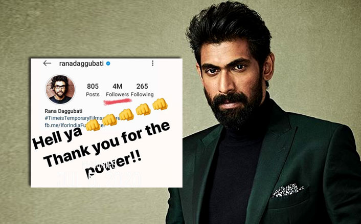 Rana Daggubati's Instagram force grows to 4 million