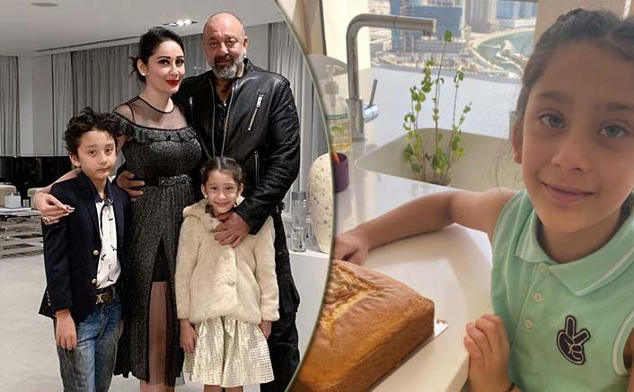 Sanjay Dutt's Daughter Iqra Bakes A Special Birthday Cake For Him, Watch Family's Celebrations!