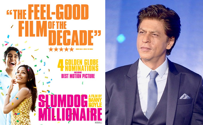 Shah Rukh Khan and Slumdog Millionaire poster