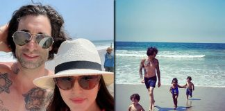 Sunny Leone hits the beach with her man and 'little nuggets'