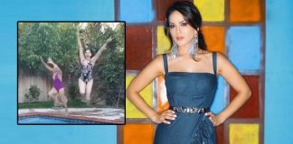 Sunny Leone's 'masti' time at the pool with a friend