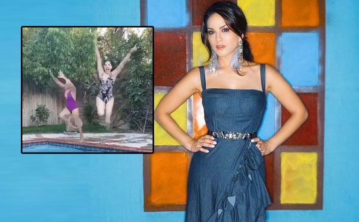 Sunny Leone Is Having Fun In The Pool With A Friend & We Envy Her!