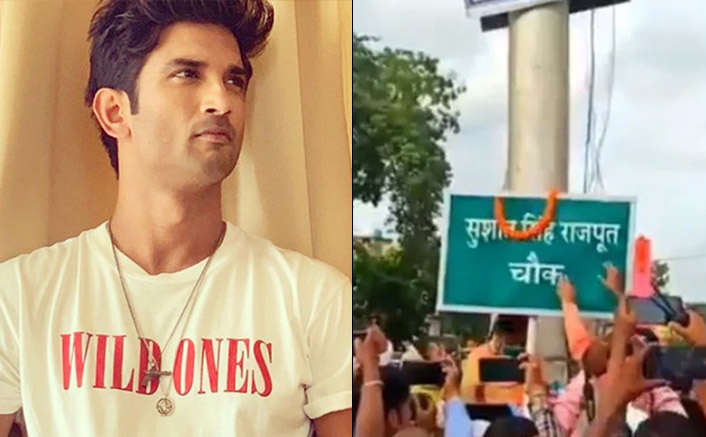 Sushant Singh Rajput Replaces The Name Of Ford Company On A Chowk