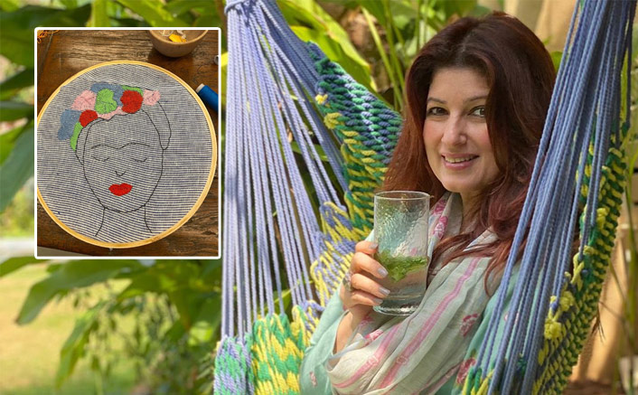 Twinkle Khanna Struggles Yet Tries Her Hand At Embroidery After 20 Years