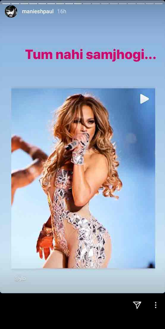 Actor and Popular host Maniesh Paul crushes on Pop sensation Jennifer Lopez
