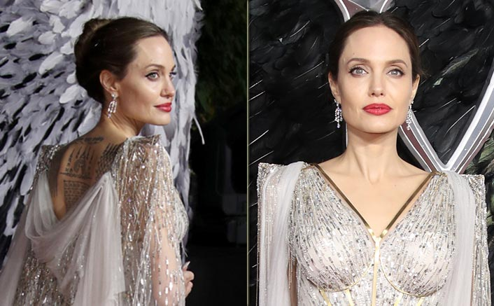 Angelina Jolie Boasting Tattoos Instead Of Covering Them On The Red Carpet Is The ULTIMATE Sign Of How She Has ZERO Fuc*s To Give