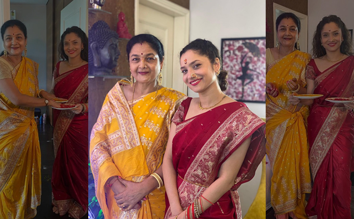 "Ankita Lokhande & Her Mother Prays To Gauri Ganpati, Writes ""God Is With Us"""