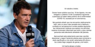 Antonio Banderas reveals testing Covid-19 positive on 60th b'day