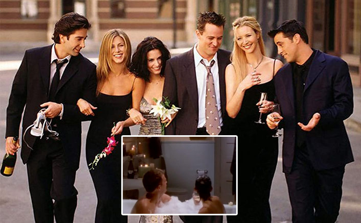 FRIENDS: When Joey Almost Caught Chandler & Monica Drinking & Having Bath Together