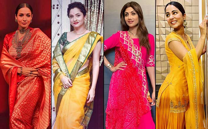 Ganesh Chaturthi 2020: From Malaika Arora To Ankita Lokhande, Traditional Look Inspirations Totally Worth Trying!
