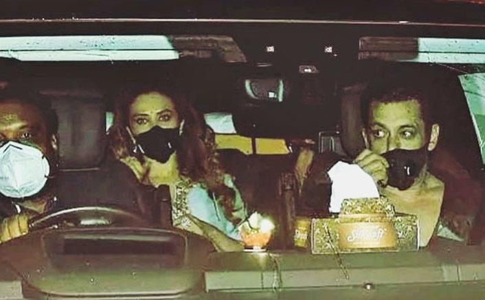 Ganesh Chaturthi 2020: Salman Khan Visits Sohail Khan's Home With Rumoured Girlfriend Lulia Vantur
