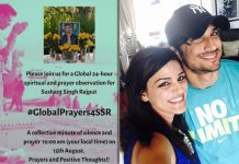 Global prayer meet for Sushant on Independence Day
