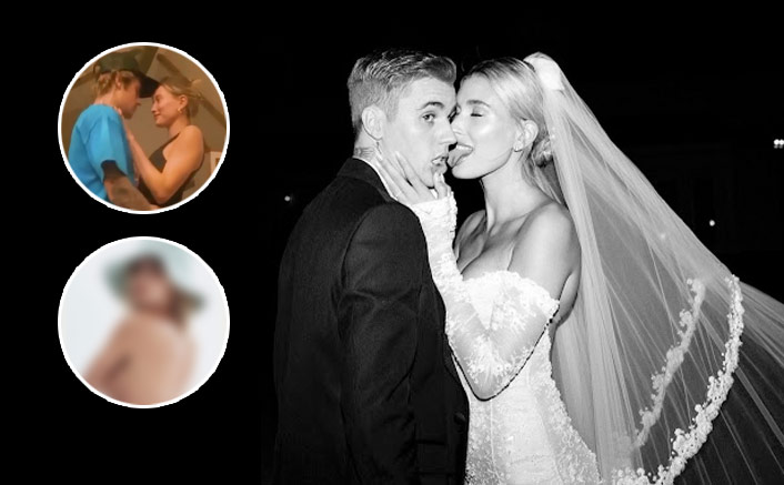 Hailey Bieber Goes TOPLESS; Shares A Passionate Kiss With Justin Bieber As They Dance Together, WATCH(Pic credit: Instagram/haileybieber, jaileybieberx, justinbieber)