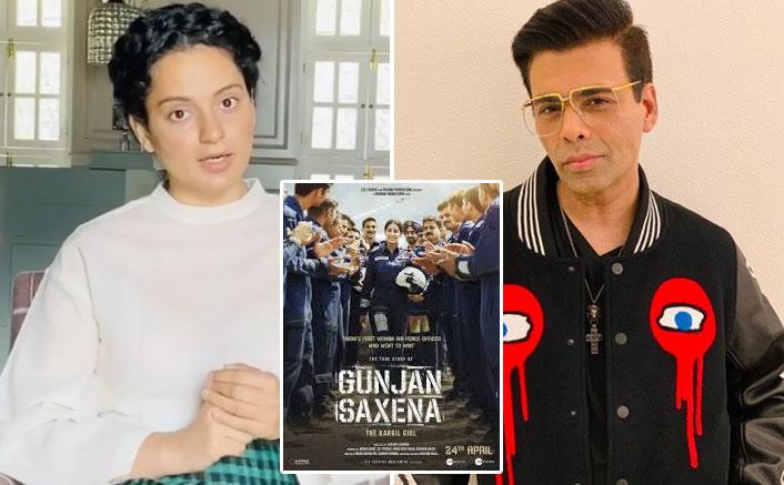 Kangana Ranaut targets Karan Johar, Gunjan Saxena film