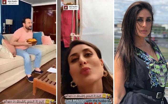 Kareena Kapoor Khan Pouts & Shoots At Home Again With Husband Saif Ali Khan