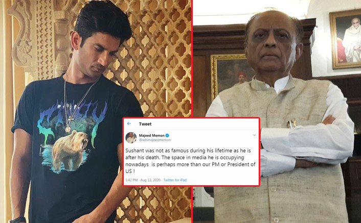 Majeed Memon: Sushant was not as famous during his lifetime as after death(Pic credit: Facebook/Majeed Memon, Instagram/sushantsinghrajput)