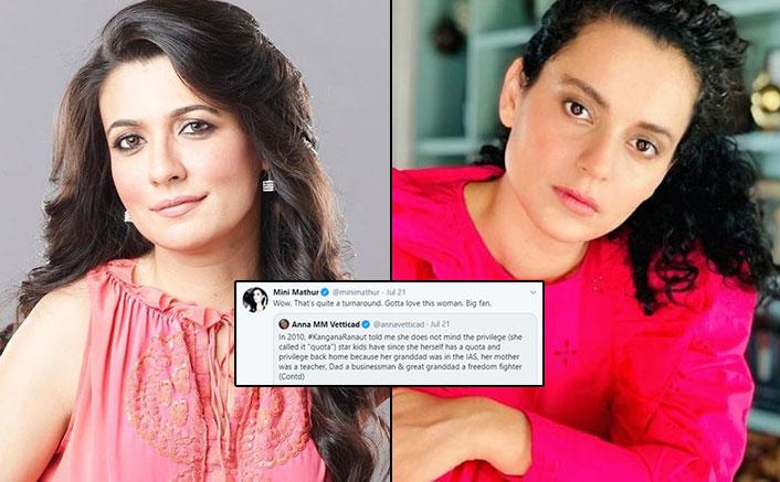"Mini Mathur Shuts Kangana Ranaut Fans Trolling Her: ""Share Your 10 Rupee Per Tweet Bonus With Your 15 Followers"""