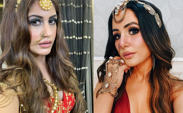 Naagin 5 EXCLUSIVE! Surbhi Chandna Decodes Her Gorgeous Outfit; Stepping In After Hina Khan & Doing Action Scenes!(Pic credit: Instagram/realhinakhan, koimoi)