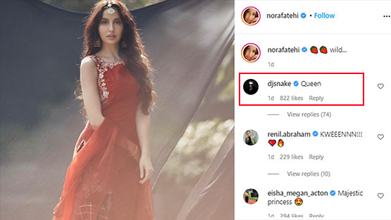 Nora Fatehi And DJ Snake Bond On Social Media, Latter Calls Her A 'Queen'