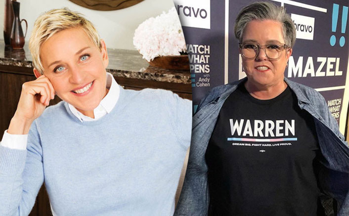 """Rosie O'Donnell On NOT Gracing The Ellen DeGeneres Show: """"I'm Terrified She's Going To Scare & Give Me A Heart Attack""""(Pic credit: Instagram/rosie, Facebook: Ellen DeGeneres)"""