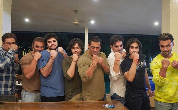 Salman, Arbaaz, Sohail flaunt 'rakhis' in new photo