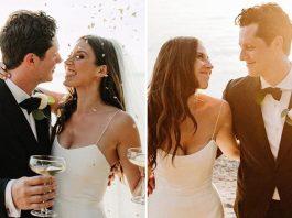 Schitt's Creek's 'Patrick' Noah Reid Finda His Maria Carey In Clare & These Wedding Pictures Will Surely Make Dan Levy Jealous