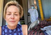 Sharon Stone reveals her younger sister Kelly has Covid-19