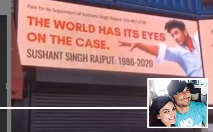 Sushant's sister posts video of Hollywood billboard put up for late actor (Lead)