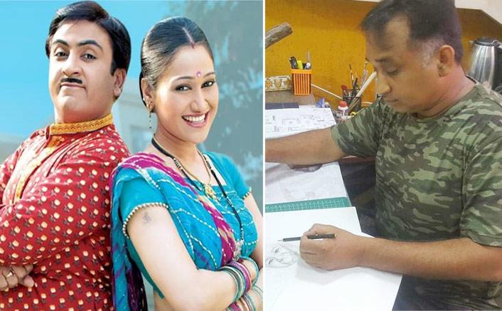 Taarak Mehta Ka Ooltah Chashmah: Mayur Vakani Makes An Adorable Sketch For Priya Ahuja Rajda AKA Rita Reporter & Her Son(Pic credit: Instagram/malavrajda)
