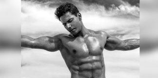 Varun Dhawan flaunts washboard abs