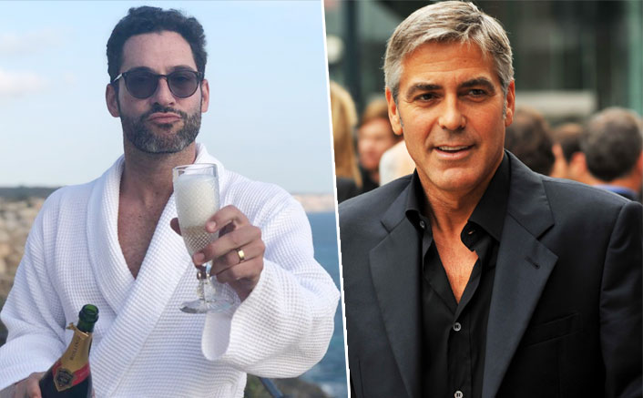 When Lucifer Tom Ellis Met His Style Icon George Clooney For The First Time In His 'Man Uggs' & A 'Her Robe' (Pic credit: Instagram/officialtomellis)