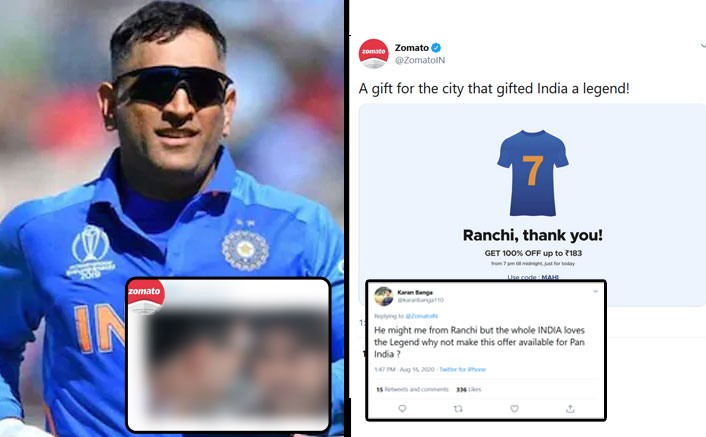 Zomato India's Phir Hera Pheri Style Reply To A Fan Asking For All India 100% Discount On MS Dhoni's Retirement Will Make Your Monday