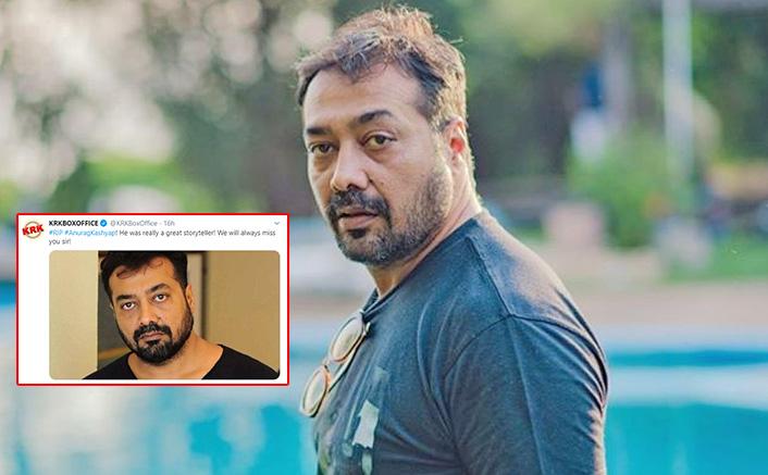 "Anurag Kashyap Sarcastically Trolls KRK For Announcing Him Dead: ""God Of Death Paid Me A Visit"""