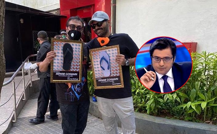 Anurag Kashyap & Kunal Kamra Reach Arnab Goswami's Office To Give Him A 'Chappal Award' For Excellence In Journalism