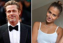 Brad Pitt's Girlfriend Nicole Poturalski Goes For Morning Walk With Her Son!