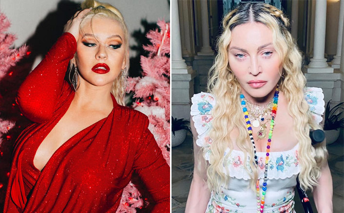"""Christina Aguilera On Her Famous Lip-Lock With Madonna: """"It Wasn't Shocking Back Then""""(Pic credit: Facebook/ Christina Aguilera, Madonna)"""