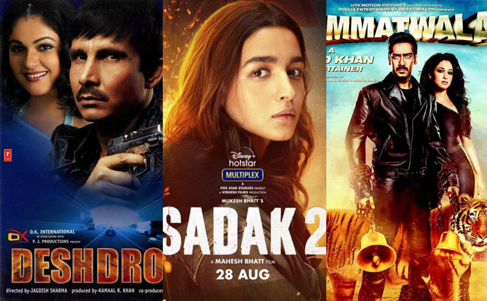 From Alia Bhatt's Sadak Sequel To Ajay Devgn's Two Movies – Top 5 Worst IMDb Rated Films!