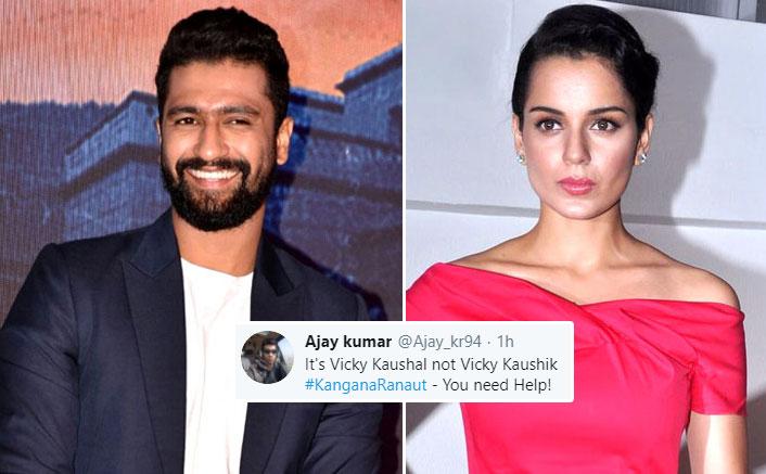 After Kangana Ranaut Misspelled Vicky Kaushal's Name, 'Vicky Kaushik' Starts Trending On Twitter